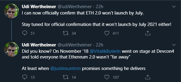 Launch of Ethereum's ETH2.0 Upgrade Might not Happen in July 15