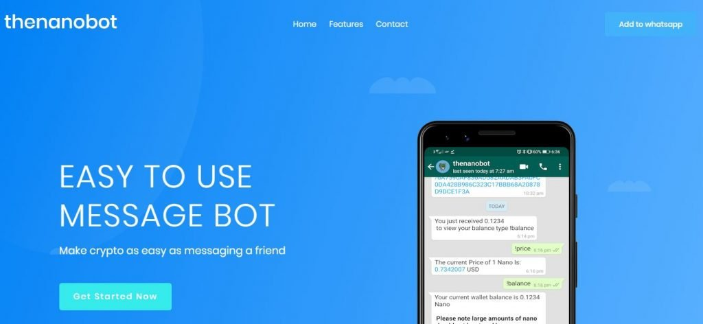 New Tip Bot Could Introduce Nano (NANO) to 1.6B WhatsApp Users 13