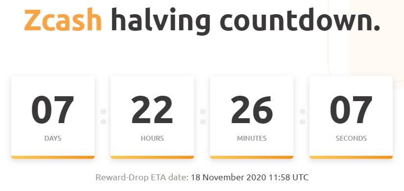 ZCash (ZEC) Halving to Coincide with Canopy Upgrade on Nov. 18th 16