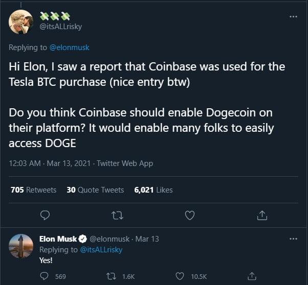 Elon Musk déclare qu'il obtient un Shiba Inu DOGE 14