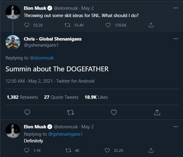 DOGE se rapproche de l'augmentation des heures de BNB avant qu'Elon Musk n'accueille SNL 16